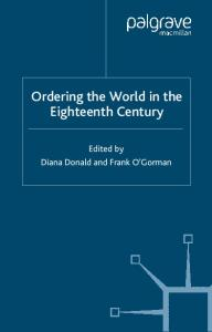 Ordering the World in the Eighteenth Century (Studies in Modern History)