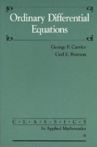Ordinary Differential Equations (Classics in Applied Mathematics)