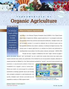 Organic - Fundamentals of Organic Agriculture