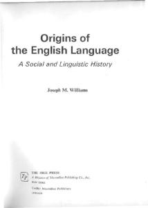Origins of the English language, a social and linguistic history