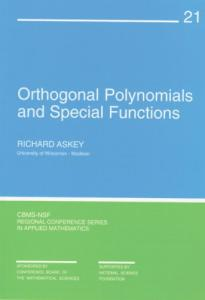 Orthogonal polynomials and special functions