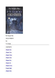 P. N.  Elrod - Vampire Files 10 - Cold Streets