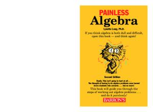 Painless Algebra (Barron's Painless) 2nd Edition