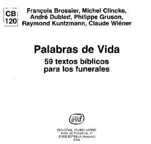 Palabras de Vida: 59 Textos para los Funerales