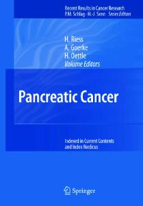 Pancreatic Cancer (Recent Results in Cancer Research)