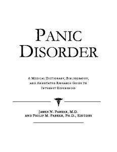 Panic Disorder - A Medical Dictionary, Bibliography, and Annotated Research Guide to Internet References