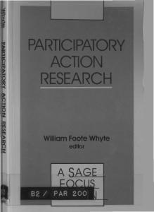 Participatory Action Research (SAGE Focus Editions)