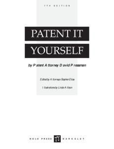 Patent It Yourself