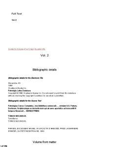 Patrologiae Latinae Cursus Completus: Series Prima, Tomus Secundus (Series Latina)
