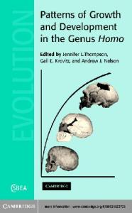 Patterns of Growth and Development in the Genus Homo (Cambridge Studies in Biological and Evolutionary Anthropology)