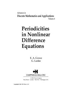Periodicities in Nonlinear Difference Equations