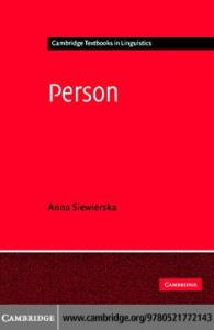 Person (Cambridge Textbooks in Linguistics)