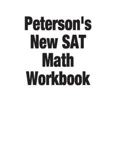Peterson's New SAT Math Workbook (Academic Test Preparation Series)