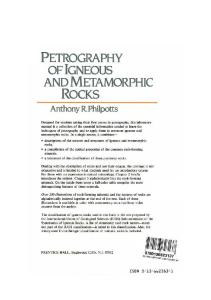 Petrography of Igneous and Metamorphic Rocks