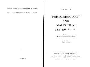 Phenomenology and Dialectical Materialism