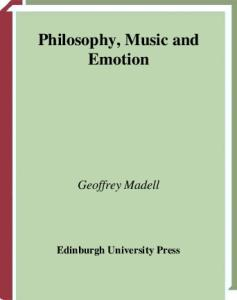 Philosophy, Music and Emotion