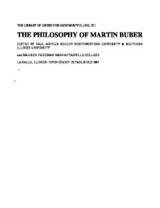Philosophy of Martin Buber (Library of Living Philosophers)