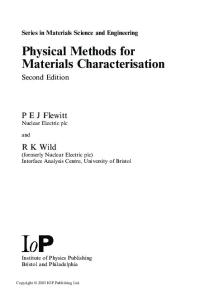 Physical methods for materials characterisation