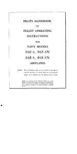 Pilots Manual F6F-3,-3N,-5,-5N Hellcat