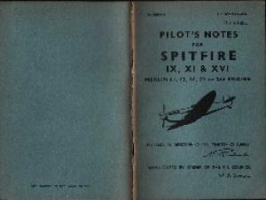Pilots notes for Spitfire IX, XI  XVI