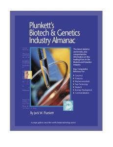 Plunkett's Biotech & Genetics Industry Almanac 2003-2004 (Plunkett's Biotech & Genetics Industry Almanac)