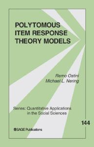 Polytomous Item Response Theory Models (Quantitative Applications in the Social Sciences)