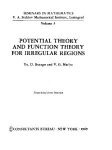Potential Theory and Function Theory for Irregular Regions