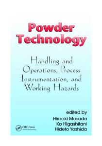 Powder Technology Handling and Operations Process Instrumentation and Working Hazards