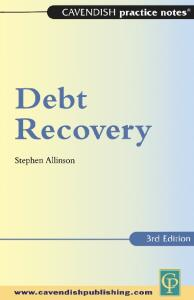 Practice Notes on Debt Recovery 3 e (Practice Notes)