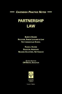 Practice Notes on Partnership Law (Practice Notes)