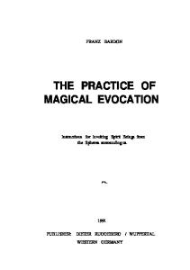 Practice of Magical Evocation