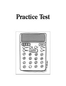 Practice Test Papers