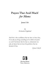Prayers That Avail Much Moms (Prayers That Avail Much) (Prayers That Avail Much)