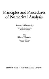 Principles and procedures of numerical analysis