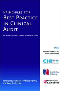 Principles for Best Practice in Clinical Audit