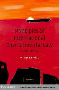 Principles of International Environmental Law 2nd Edition