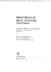 Principles of Real Analysis