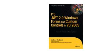 Pro .NET 2.0 Windows Forms and Custom Controls in VB 2005