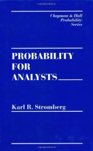 Probability for Analysts (Chapman & Hall CRC Probability Series)