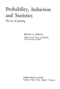 Probability, Induction and Statistics (Probability & Mathematical Statistics)