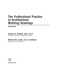 Professional Handbook of Architectural Working Drawings