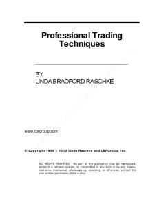Professional Trading Techniques