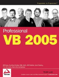 Professional VB 2005