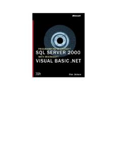 Programming Microsoft SQL Server 2000 with Microsoft Visual Basic .NET
