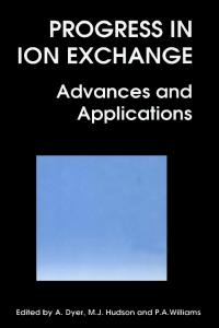Progress in Ion Exchange: Advances and Applications