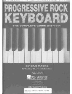 Progressive Rock Keyboard: Hal Leonard Keyboard Style Series