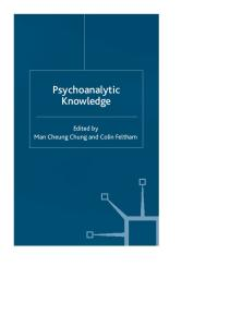 Psychoanalytic Knowledge and the Nature of Mind