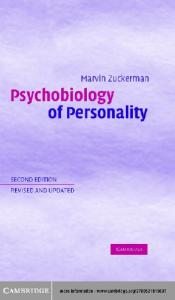 Psychobiology of Personality (Problems in the Behavioural Sciences)