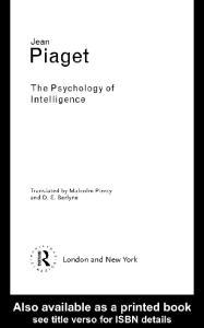 Psychology of Intelligence (Routledge Classics)