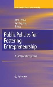 Public Policies for Fostering Entrepreneurship: A European Perspective (International Studies in Entrepreneurship)